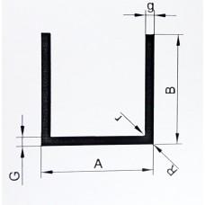 Ceownik aluminiowy 10x10x1,5 dłg. 2 mb