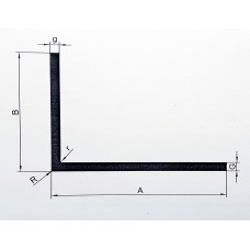 Kątownik aluminiowy 20x15x2 dłg.1,2 mb