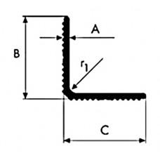 Kątownik aluminiowy ryflowany 30x30x2,5 dłg. 1,5 mb