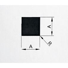 Pręt aluminiowy kwadratowy 25x25 mm. Długość 1,5 mb. PA38