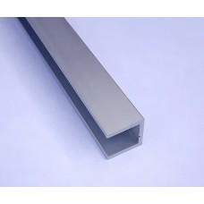 Anodowany ceownik 8x8x8x1 mm/2000 mm/natural