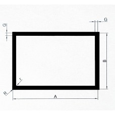 Profil zamknięty aluminiowy 100x50x2 mm. Długość 1,2 mb