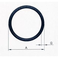 Rura aluminiowa fi 8x1 mm. Długość 1,5 mb.