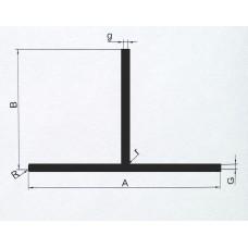 Teownik aluminiowy 20x20x2 mm. Długość 1 mb.